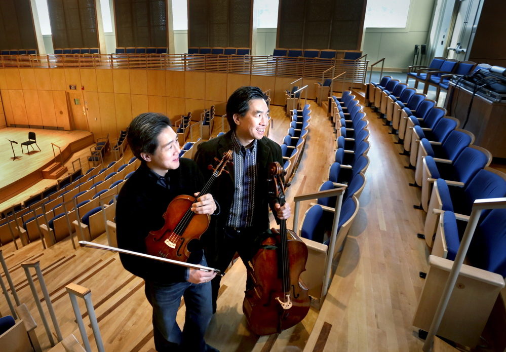 Phillip, left, and David Ying take over this year as co-artistic directors of the Bowdoin International Music Festival.