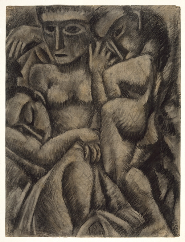 """Composition with Four Figures"" by Max Weber, 1910."