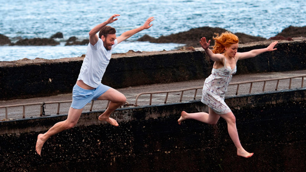 """Will Forte and Maxine Peake in """"Run and Jump."""" Director Steph Green sought Forte out for the role of a young American doctor who moves in with a family in Ireland to observe the young husband, who is the victim of a rare stroke."""