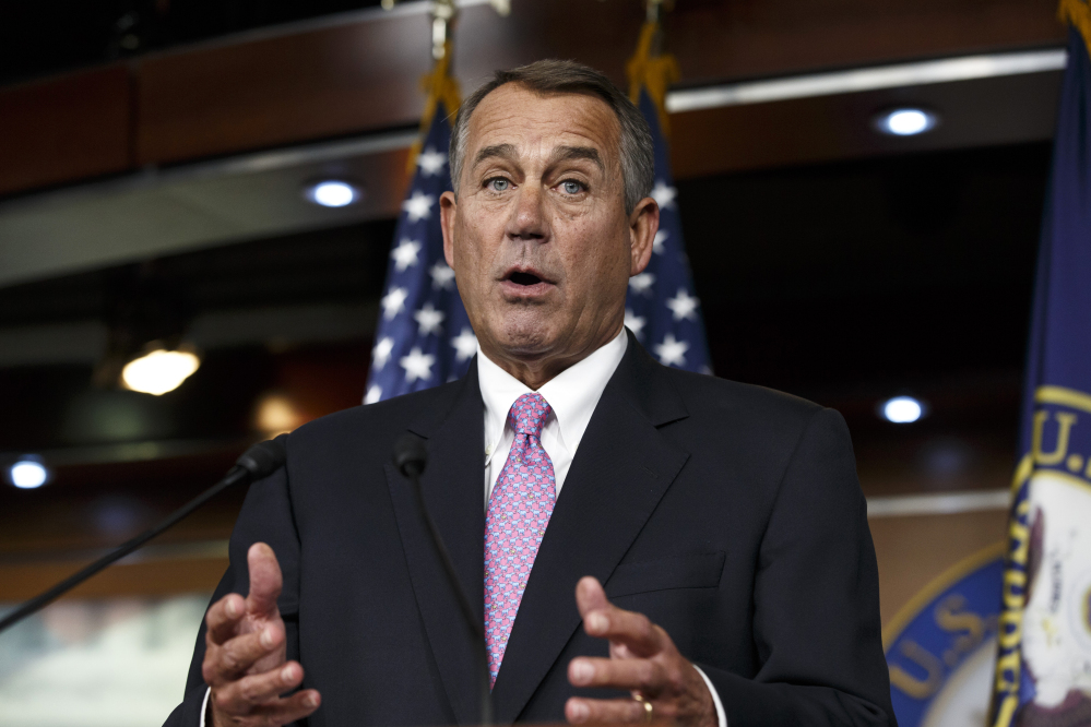 "House Speaker John Boehner of Ohio said Tuesday of President Obama: ""We'll let his party give him the debt ceiling increase that he wants."""