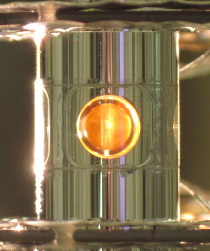 Lawrence Livermore National Laboratory scientists in Livermore, Calif., fired lasers into a small gold cylinder in a step toward harnessing nuclear fusion.