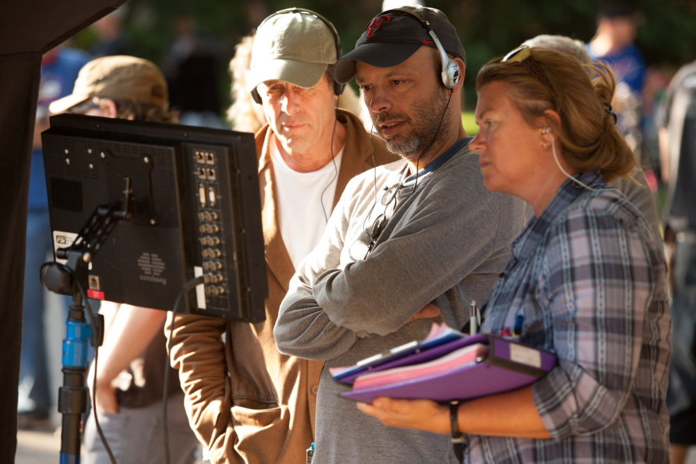 Director Jose Padilha on the set of Columbia Pictures'