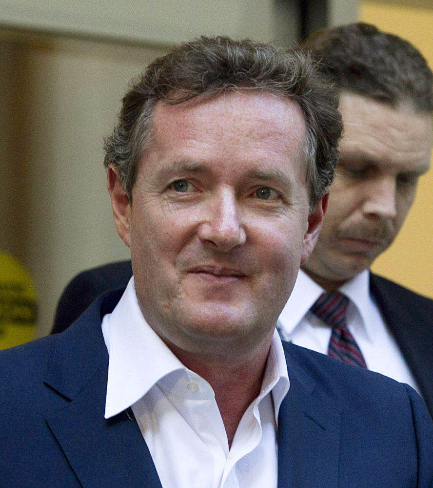 Piers Morgan denies any wrongdoing in the illegal interception of telephone voice mails.