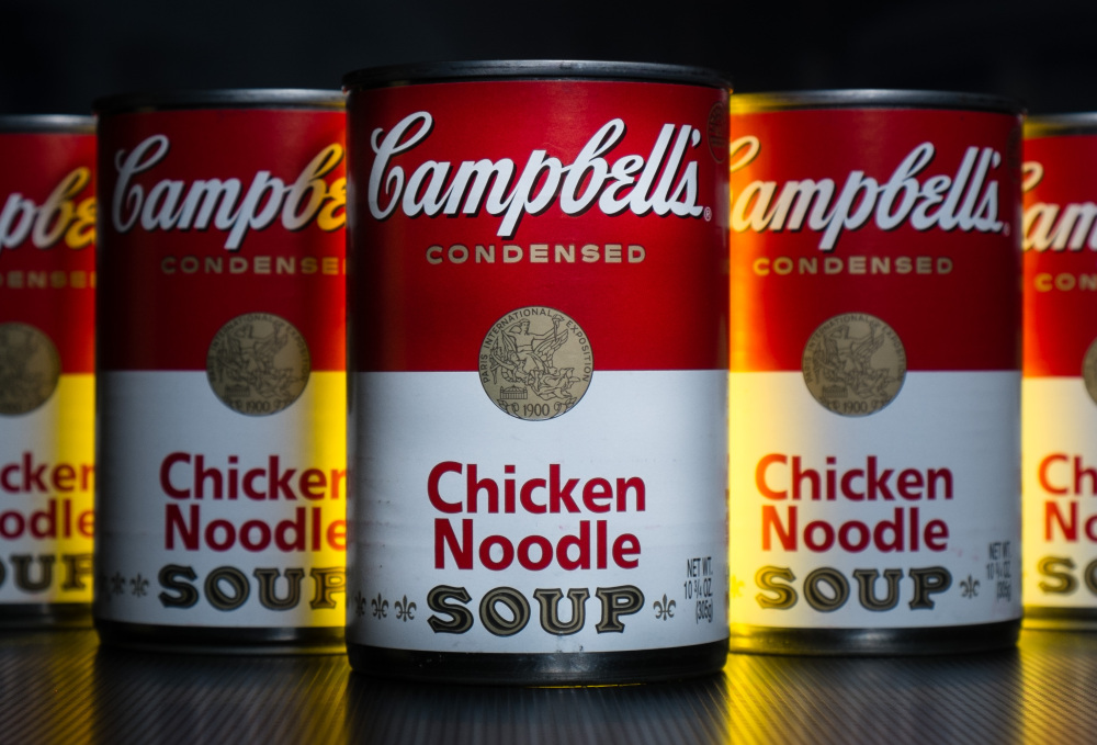 Campbell Soup reported a higher quarterly profit Friday as U.S. soup sales rose 5 percent.