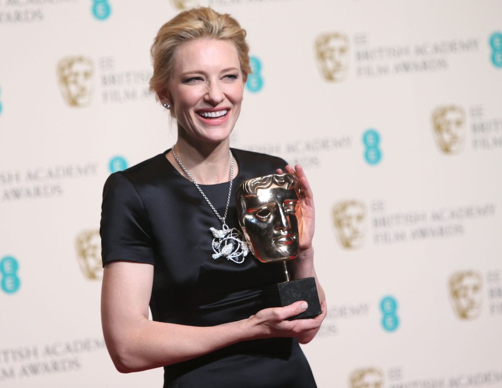 """Cate Blanchett won the best actress award for her turn as a socialite on the slide in """"Blue Jasmine."""""""