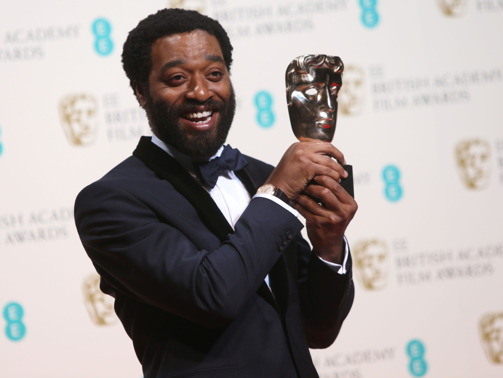 """Chiwetel Ejiofor was named best actor for his role in """"12 Years a Slave"""" at the British Academy Film Awards held Sunday at the Royal Opera House in London. """"12 Years a Slave"""" was named best picture."""