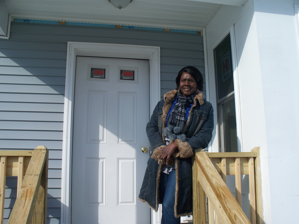 Nyapeni Doulthan and her family will move into a new home in Freeport built by Habitat for Humanity of Greater Portland.