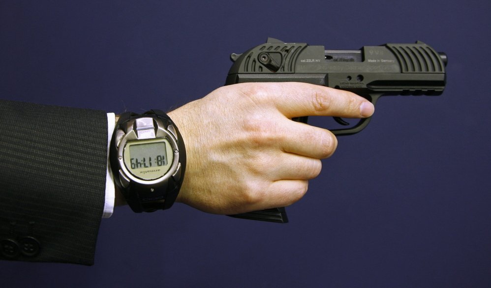 A prototype of a smart gun made by Armatix.