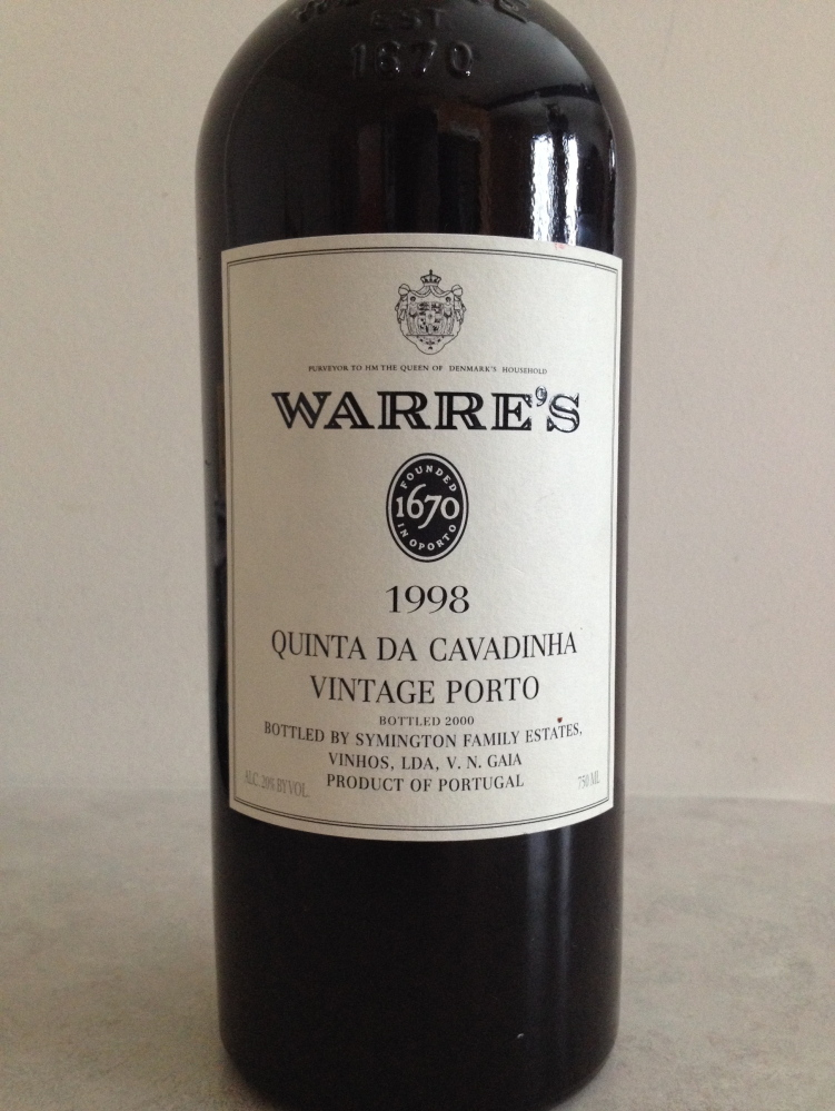 Warre's Quinta da 1998 Cavadinha is from a high single vineyard in Portugal.