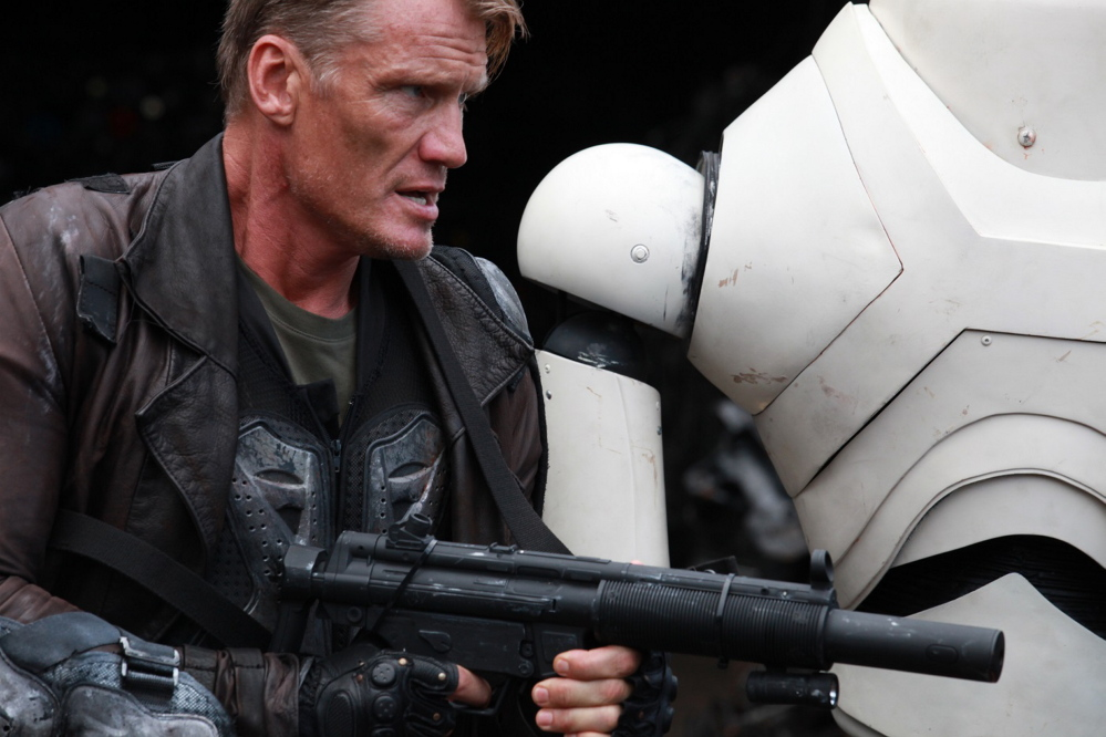 "Dolph Lundgren in ""Battle of the Damned."""