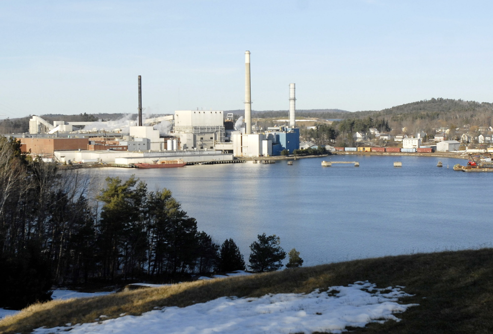 2008 Press Herald File Photo/Shawn Patrick Ouellette Verso Paper owns a mill in Bucksport, pictured, and one in Jay.