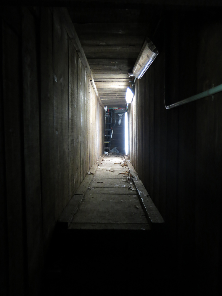 "An interconnected tunnel in the city's drainage system that infamous drug boss Joaquin ""El Chapo"" Guzman used to evade authorities is shown in the city of Culiacan, Mexico, on Sunday."