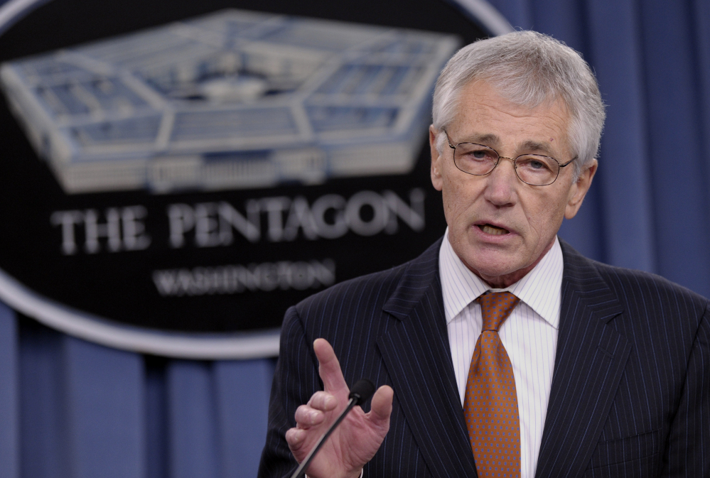 Defense Secretary Chuck Hagel is expected to propose cutting the active-duty ranks to between 440,000 and 450,000 members from a wartime peak of 570,000.