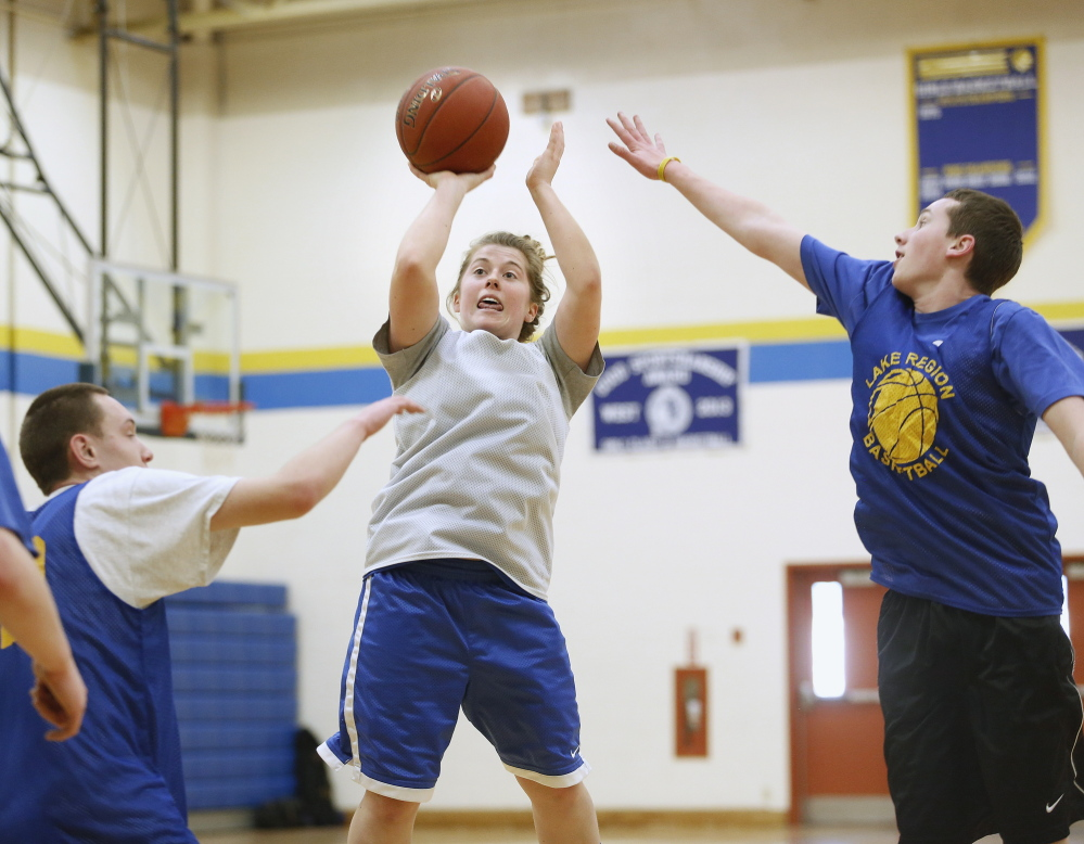 Sarah Hancock has shown that she's a threat as a 3-point shooter for Lake Region to go with her ability to get the ball in the paint to Tiana-Jo Carter. The Lakers will meet Mt. Desert Island on Friday night in Bangor.