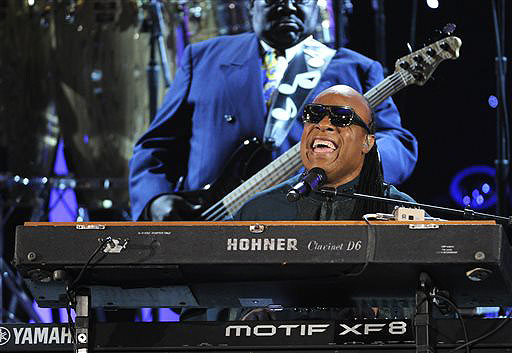 Stevie Wonder performs at the 45th NAACP Image Awards on Saturday.