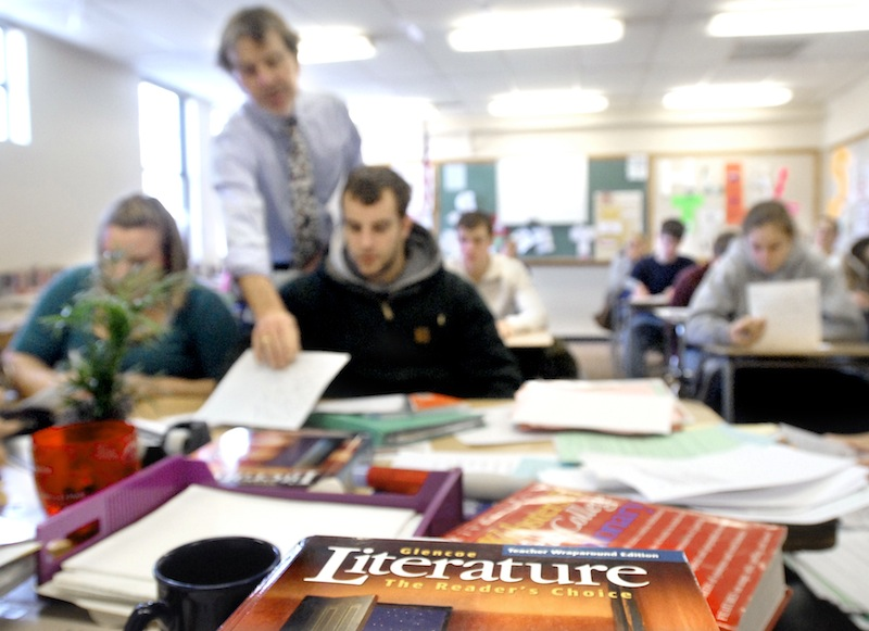 This 2007 file photo shows an students receiving instruction at Westbrook High School. Starting in 2016, students will begin taking at revamped SAT test.