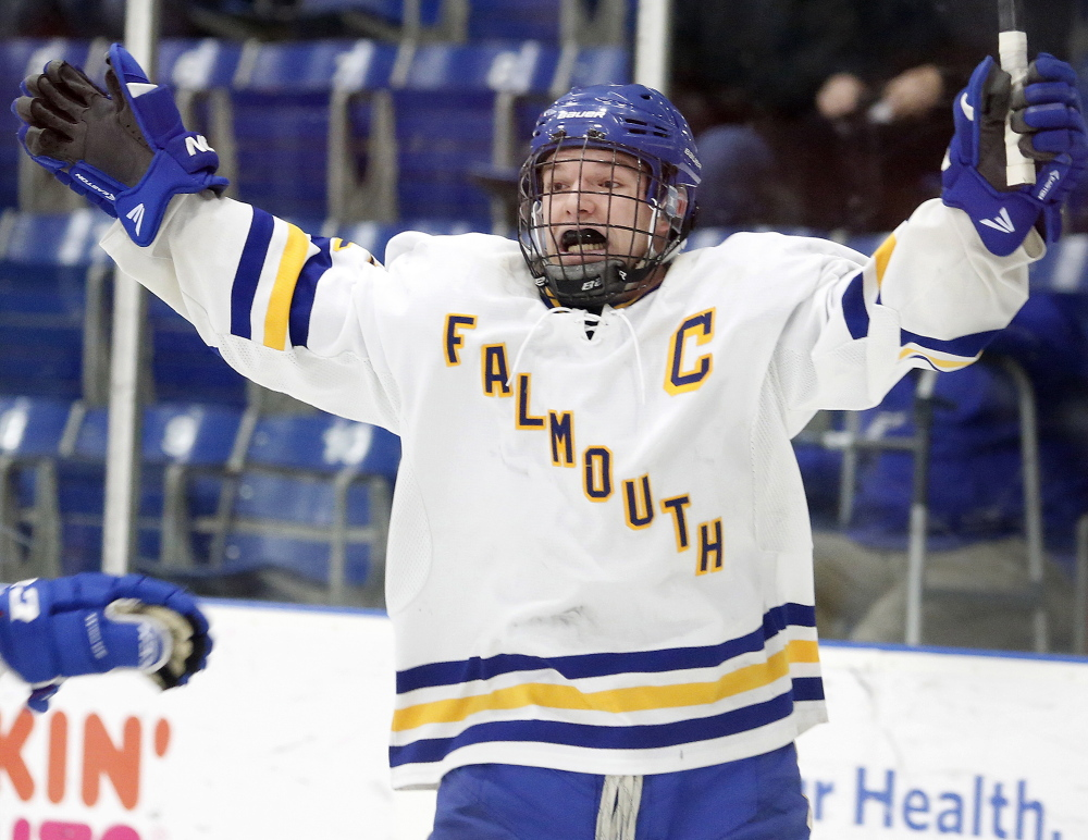"Andre Clement is Falmouth's most important player, according to Coach Deron Barton. ""He's a go-to guy when you need him, not just scoring goals, but making defensive plays,"" said Barton."
