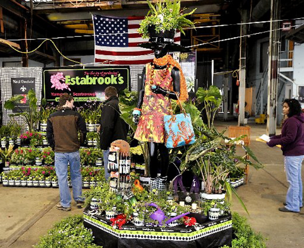 Estabrook's, a Yarmouth garden center, created this display for last year's Portland Flower Show. Garden railroading will be a feature this year.