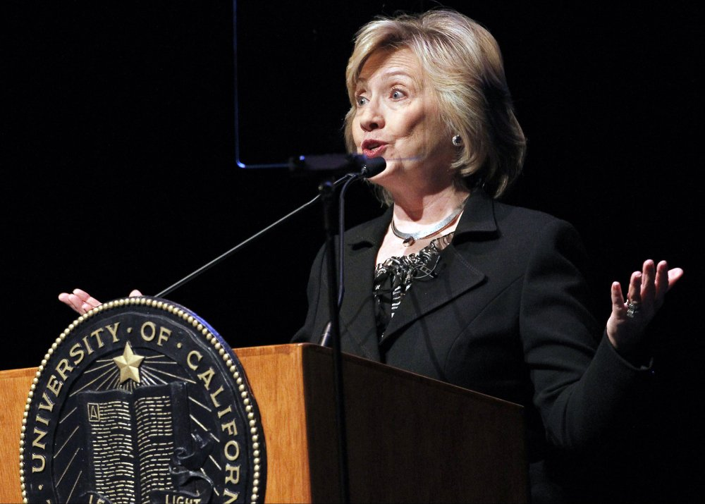Former Secretary of State Hillary Rodham Clinton speaks to students at the University of California Los Angeles, UCLA campus on the subject of leadership in Los Angeles Wednesday, March 5, 2014.