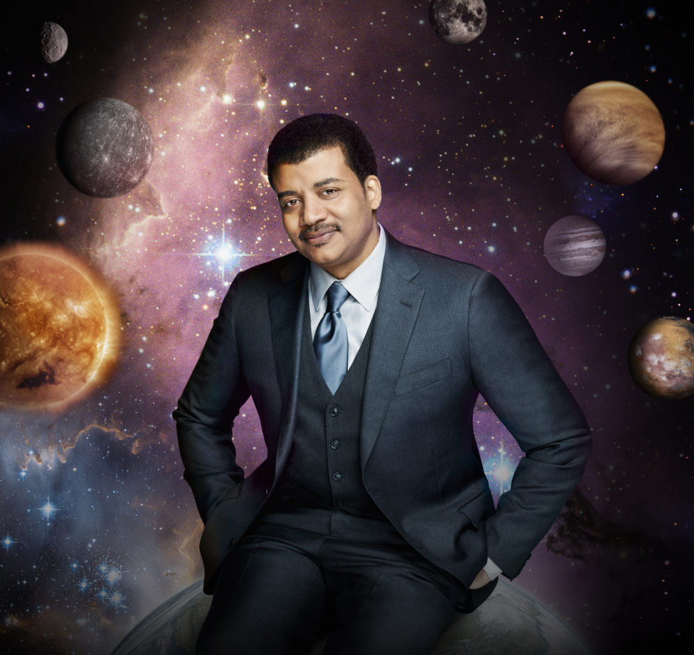 "Neil deGrasse Tyson hosts ""Cosmos: A Spacetime Odyssey,"" premiering Sunday, simultaneously across multiple Fox networks."