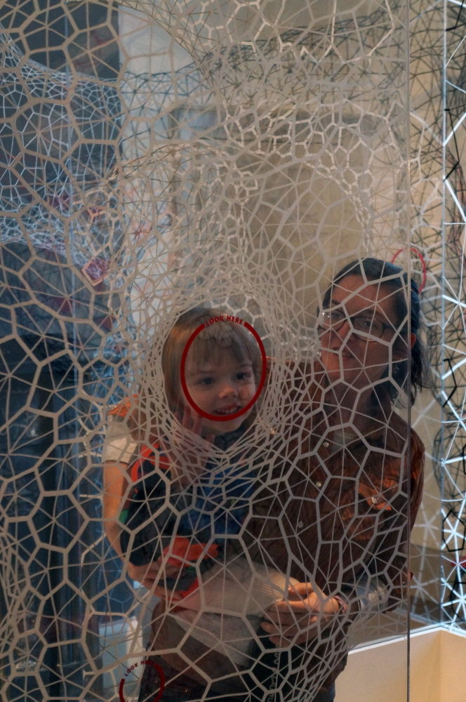 Kids and their parents love Clint Fulkerson's installation in the Portland Museum of Art's Family Space.