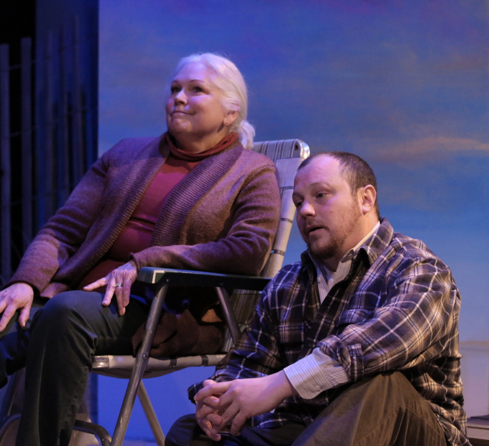 "Florence Lacey and J.P. Guimont in ""The Outgoing Tide,"" which follows a family grappling with the onset of dementia."