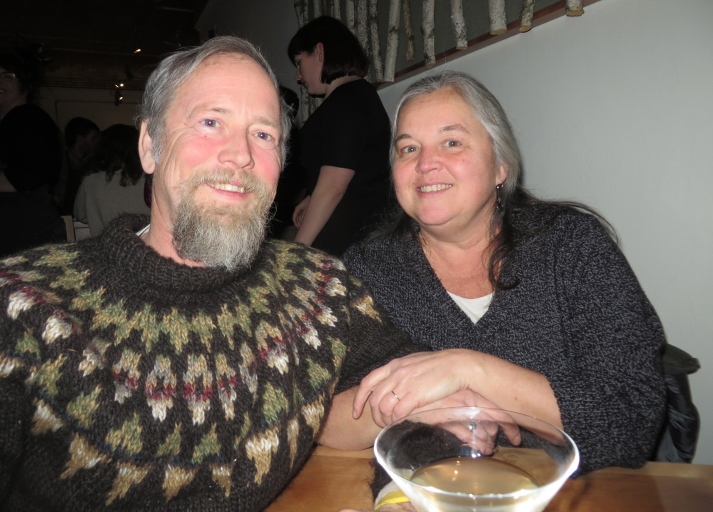"Robert and Robin Sanford of Gorham came out to support Vinland. ""I hope it does well,"" Robert Sanford said."