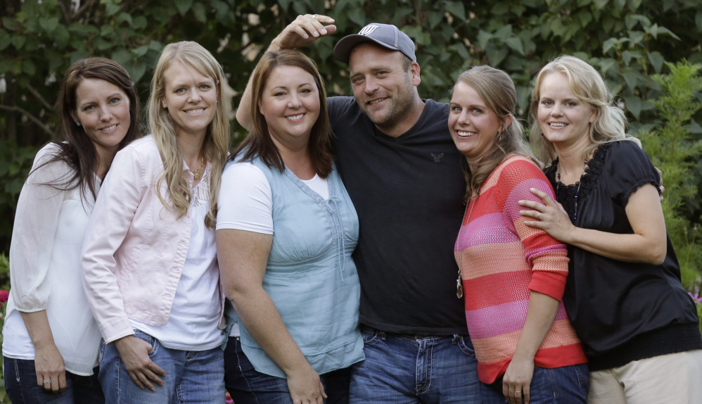 "Brady Williams and his wives, from left, Paulie, Robyn, Rosemary, Nonie and Rhonda, are featured on TLC's ""My Five Wives."""