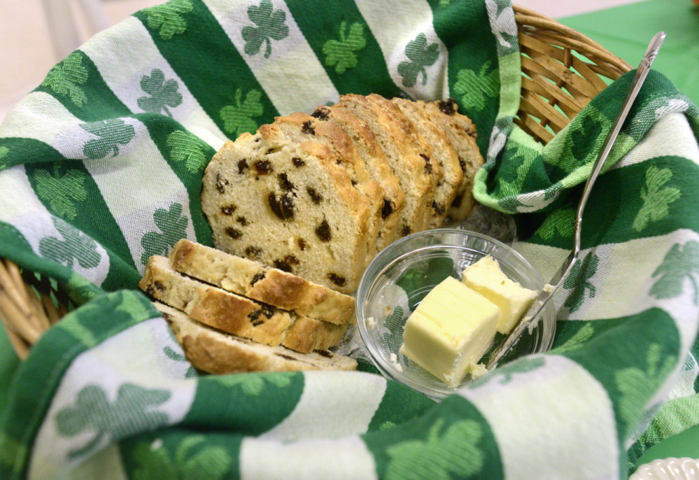 Irish soda bread made by Kathy Reilly. Reilly follows the recipe that her grandmother, Catherine Ward, brought to this country in 1900.