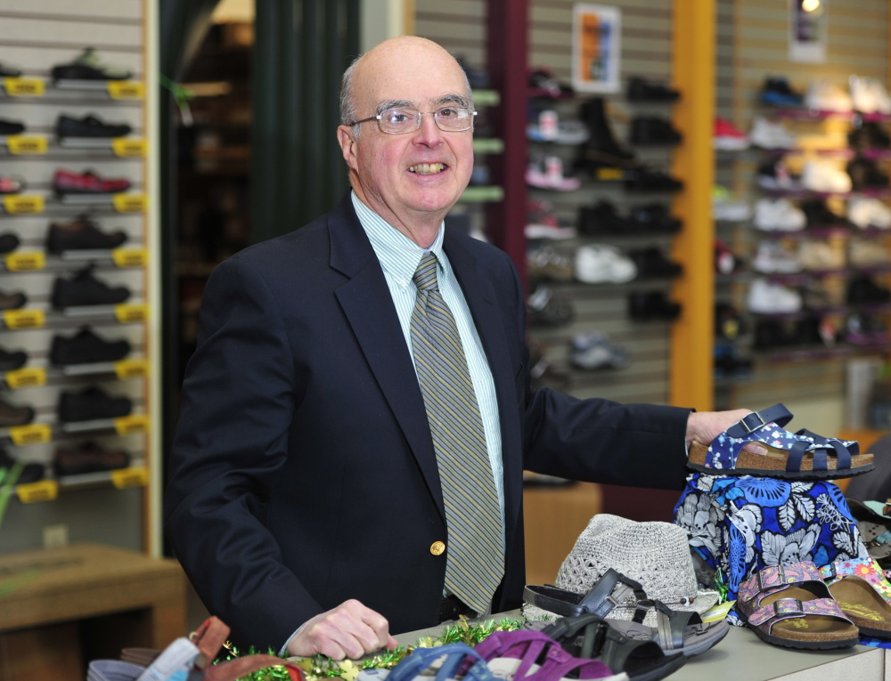 Jim Wellehan, president of Lamey-Wellehan shoe stores, runs the Maine-based family business started by his father 100 years ago. He says his occupation is challenging and fun.