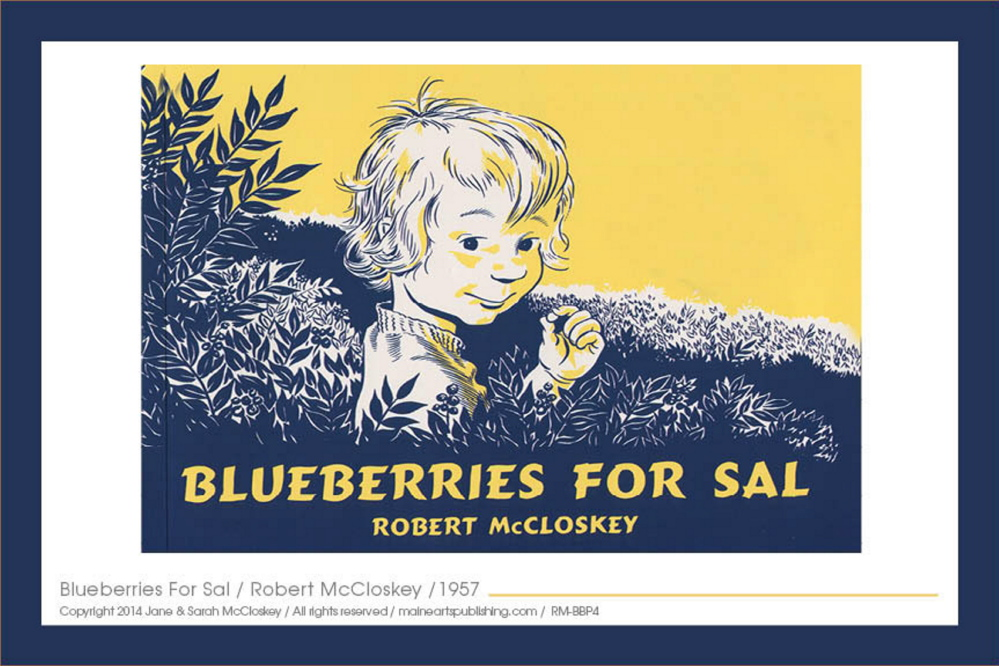 "Robert McCloskey's children's books have been translated into 35 languages. Now his illustrations, like his ""Blueberries for Sal"" cover, will be marketed in other forms."