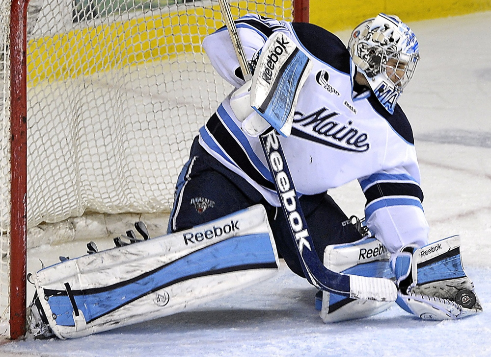 Maine's Martin Ouellette, a mainstay in goal for the Black Bears the past two seasons, wants to finish his collegiate career on a winning note.