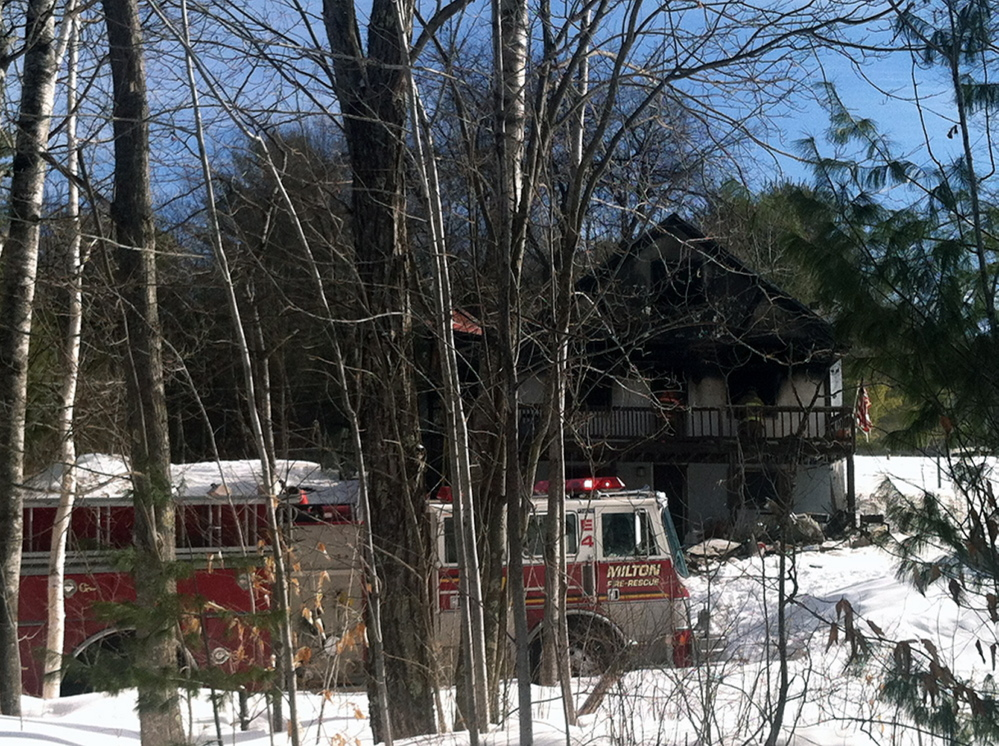 Firefighters from Acton, Lebanon, Sanford, Shapleigh and Milton Mills responded to the fire.