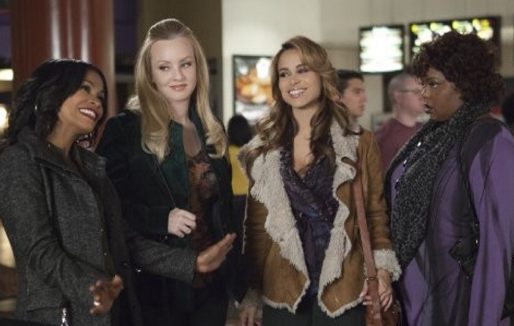"Nia Long, Wendi McLendon-Covey, Zulay Henao and Cocoa Brown star in ""The Single Moms Club."""