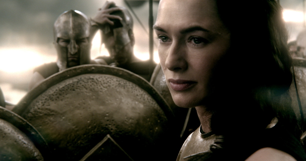 "Lena Headey as Queen Gorgo in ""300: Rise of an Empire."""