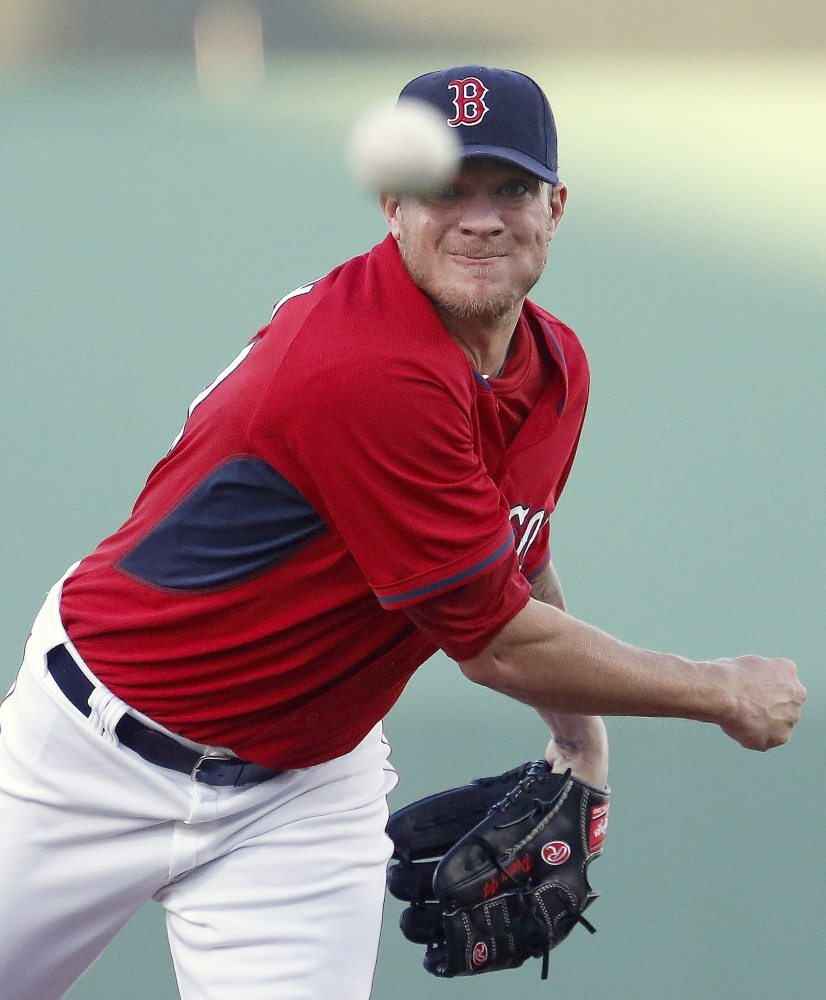 Jake Peavy, recovering from a cut on his finger, went 4 2/3 innings for the Red Sox against Pittsburgh, allowing one run and four hits, striking out five.