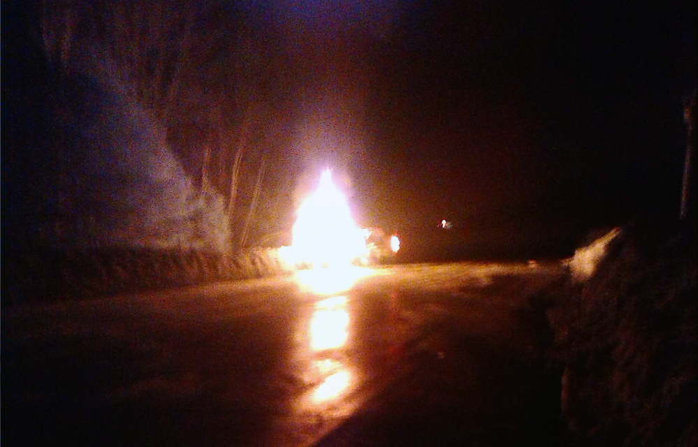 A woman was killed late Thursday in a fiery crash on the 700 block of Norridgewock Road in Fairfield.