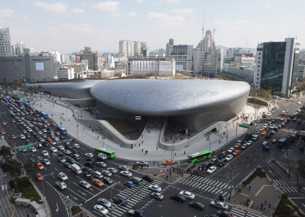 The controversial new Dongdaemun Design Plaza transforms a historic neighborhood of Seoul, South Korea. It cost $450 million to build and was funded by taxpayers.