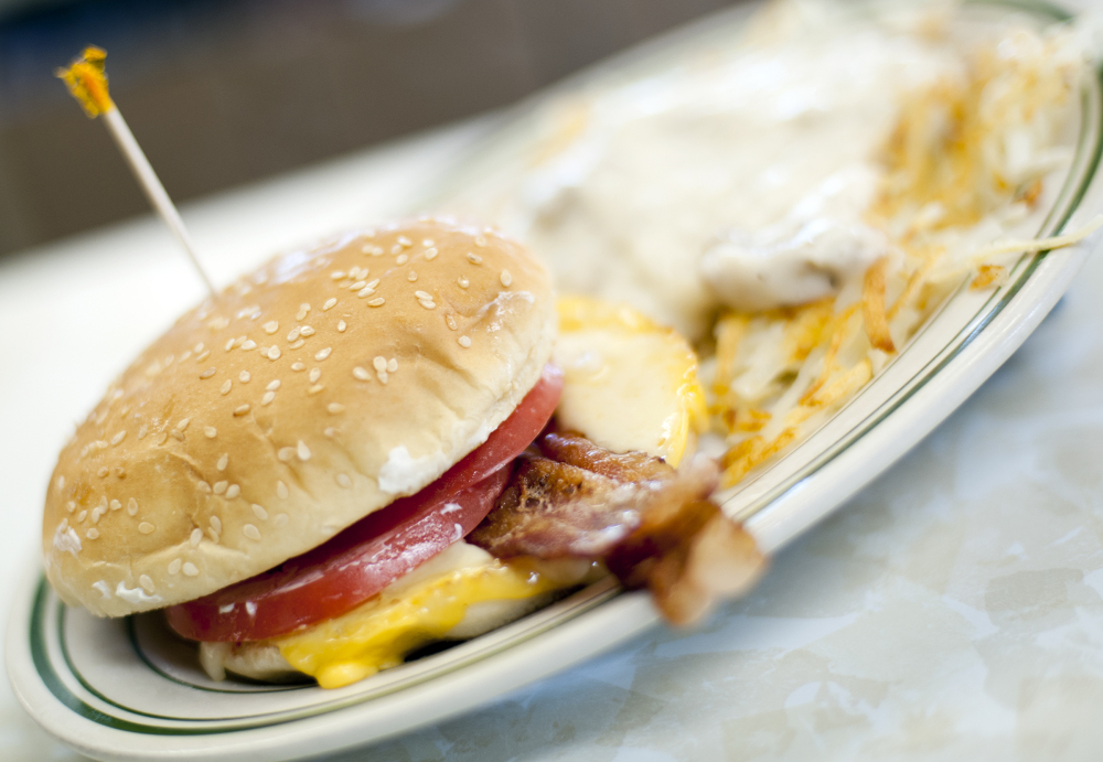 "The price of lean pork, like that seen in this breakfast sandwich at Triple XXX restaurant in West Lafayette, Ind., is up 52 percent in the futures market since the start of the year. ""You should expect to see very high prices for your ground beef, your other meat cuts, all the pork cuts will be higher this year,"" Donnie Smith, CEO of Tyson Foods, said."