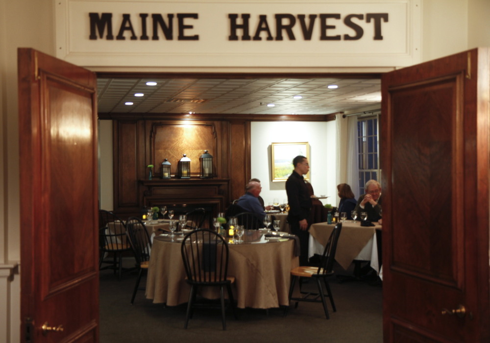 The Harraseeket Inn in Freeport is home to the Maine Harvest Dining Room, where tableside service is prized.