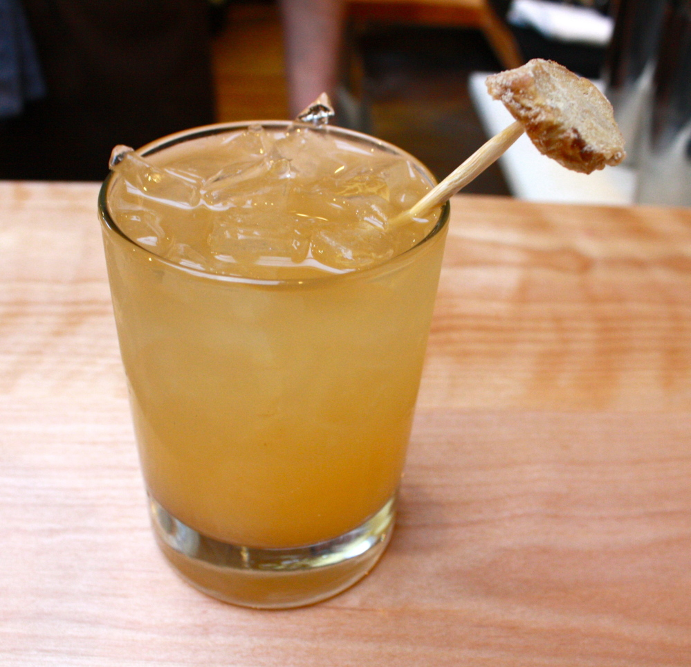 After the Storm is fashioned from Ration Rum, ginger syrup, condensed yogurt whey, UFF ginger kombucha and served on the rocks for $10.