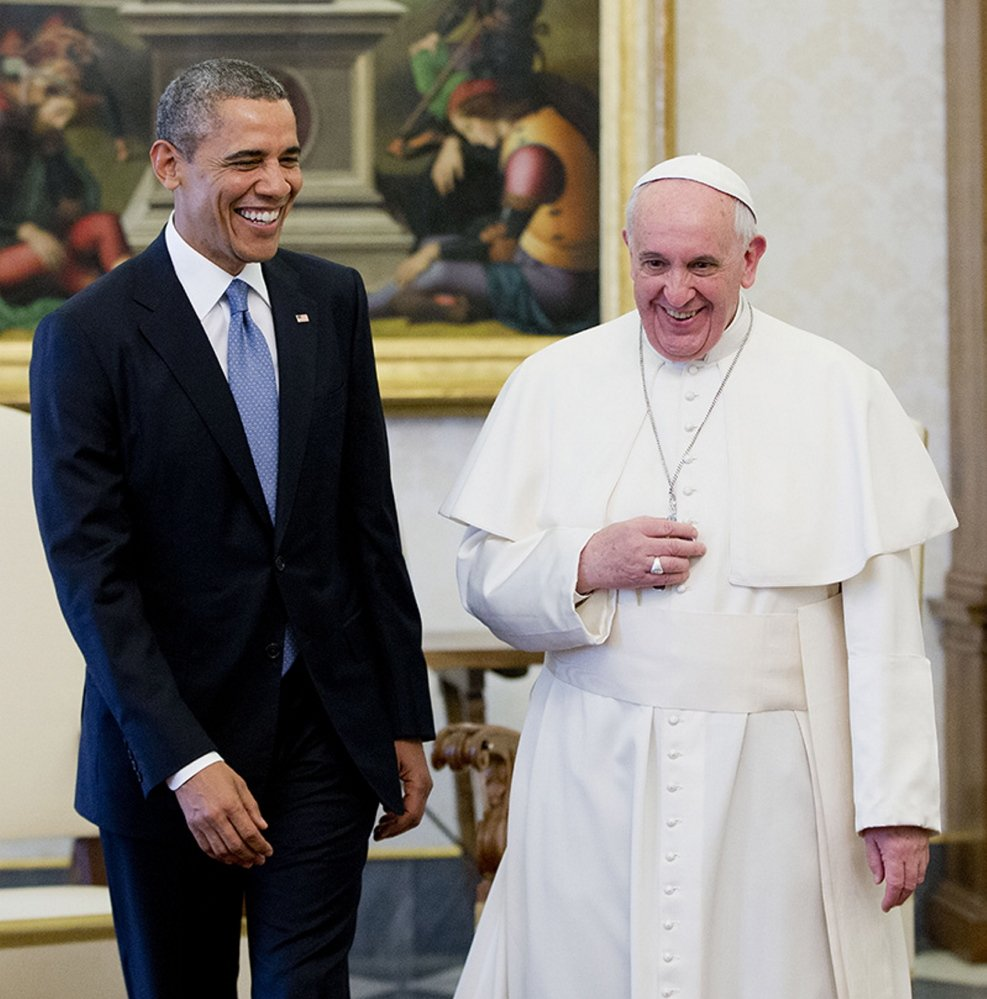 US President Barack Obama met with Pope Francis Thursday at the Vatican.