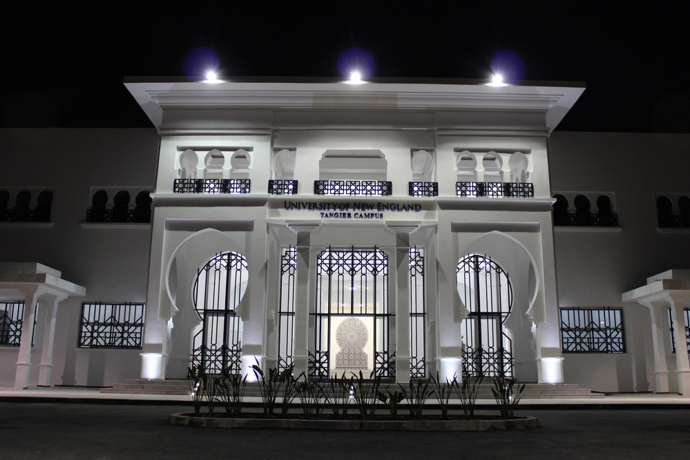 The University of New England's academic building in Tangier.