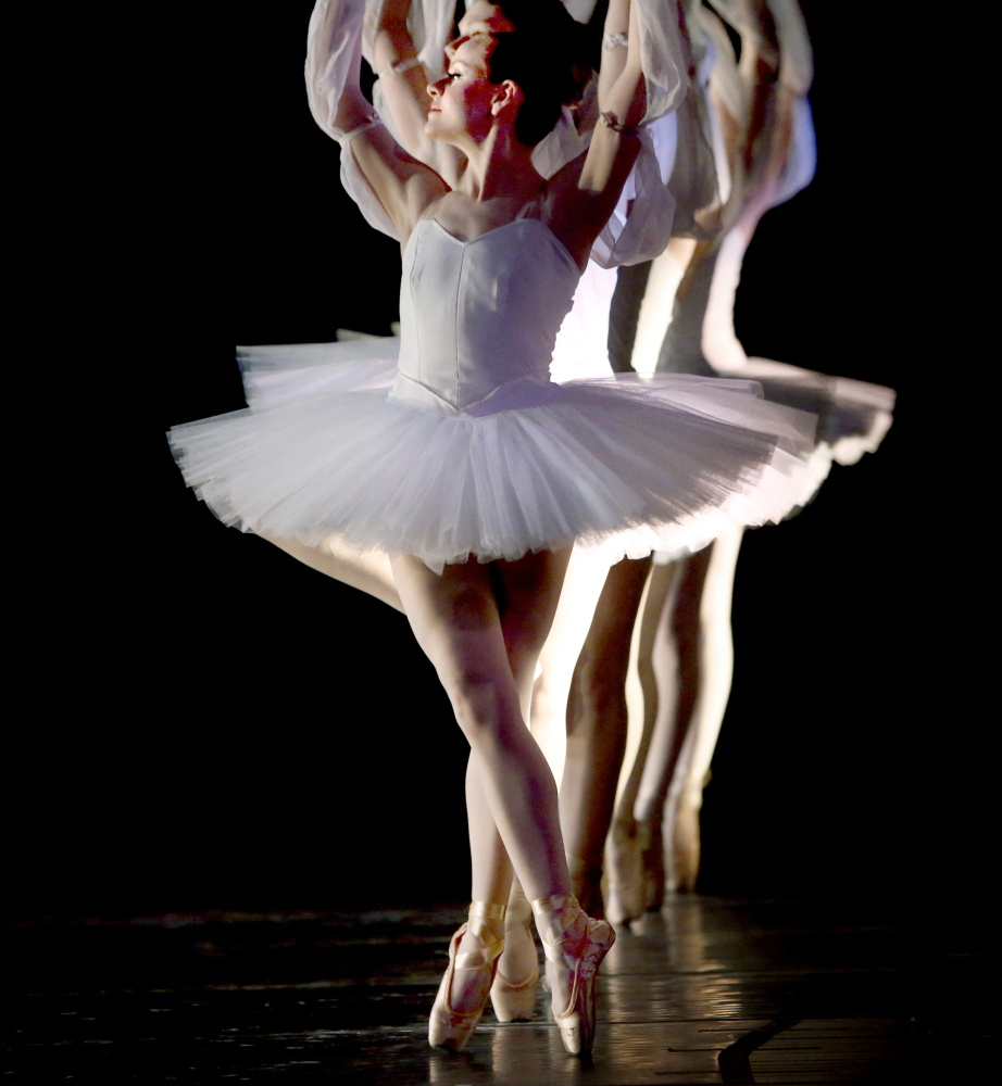 """Dancers from the Portland Ballet Company are shown during the performance of """"Bolero to Bayadere"""" at the Westbrook Performing Arts Center on Saturday."""