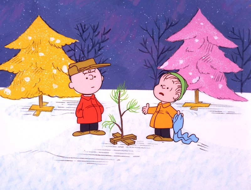 In this file image originally provided by United Feature Syndicate Inc. VIA ABC TV, Charlie Brown and Linus appear in a scene from