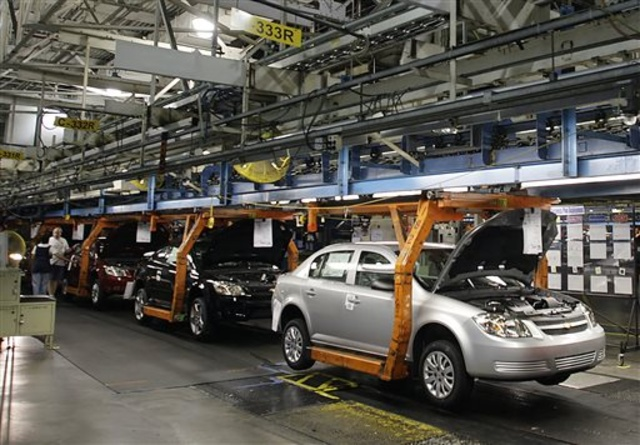Chevy Cobalt, shown on the assembly line at the Lordstown Assembly Plant, is one of six models in General Motors' recall tied to defective ignition switches. GM is adding 824,000 small cars to its ongoing recall.
