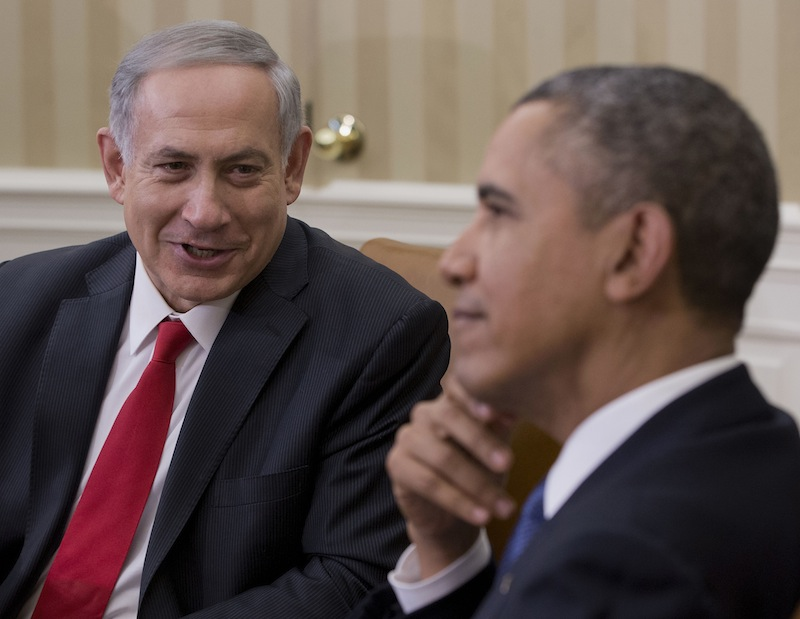 President Barack Obama meets with Israeli Prime Minister Benjamin Netanyahu in the Oval Office of the White House in Washington, Monday, March 3, 2014. Seeking to keep a pair of delicate diplomatic efforts afloat, Obama will personally appeal to Netanyahu to move forward on peace talks with the Palestinians, while also trying to manage Israel's deep suspicion of his pursuit of a nuclear accord with Iran.