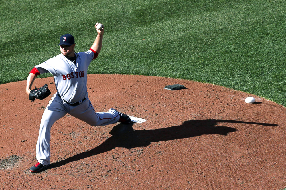 Jon Lester was making his fourth straight opening-day start for the Boston Red Sox, but was a 2-1 loser at Baltimore on Monday. Lester allowed two runs and six hits in seven innings. He struck out eight.