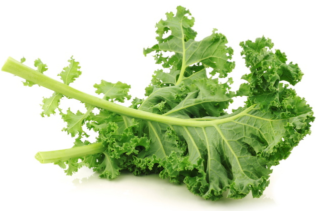 Kale is high in fiber and iron and has no fat.