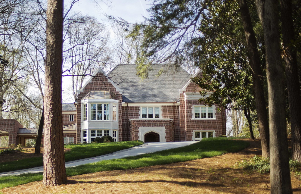 The new $2.2 million mansion that is the residence of Atlanta Archbishop Wilton Gregory stands in the upscale Buckhead neighborhood in Atlanta.
